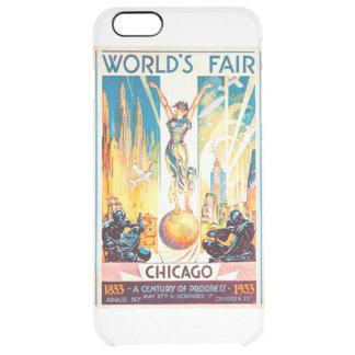 Poster 1933 de Chicago de la feria de mundos del Funda Clearly™ Deflector Para iPhone 6 Plus De Unc