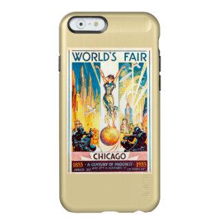 Poster 1933 de Chicago de la feria de mundos del Funda Para iPhone 6 Plus Incipio Feather Shine