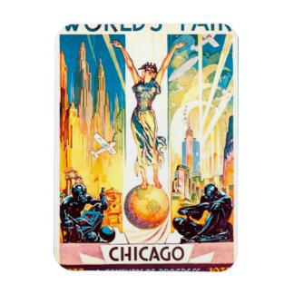 Poster 1933 de Chicago de la feria de mundos del Rectangle Magnet