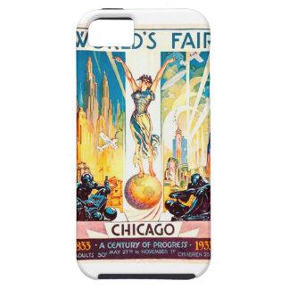 Poster 1933 de Chicago de la feria de mundos del iPhone 5 Carcasa