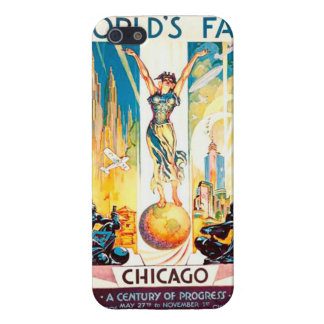 Poster 1933 de Chicago de la feria de mundos del iPhone 5 Funda