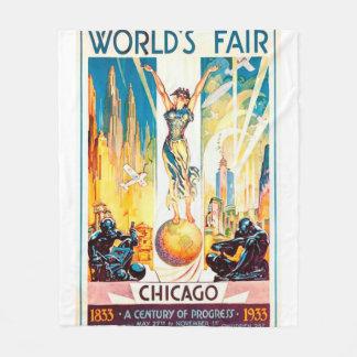 Poster 1933 de Chicago de la feria de mundos del Manta De Forro Polar