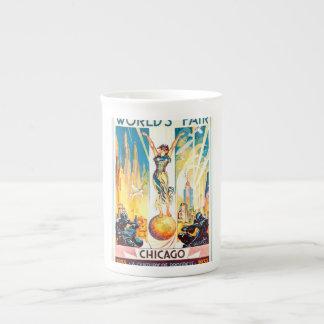 Poster 1933 de Chicago de la feria de mundos del Taza De Porcelana