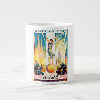 Poster 1933 de Chicago de la feria de mundos del Taza Grande