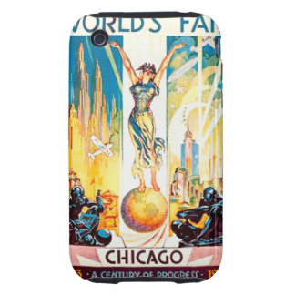 Poster 1933 de Chicago de la feria de mundos del Tough iPhone 3 Cobertura