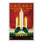 Poster 1933 de la feria de mundo de Chicago