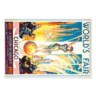 Poster 1933 del anuncio de Chicago de la feria de Cojinete
