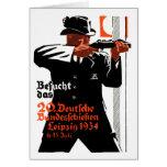 Poster 1934 del tirador felicitaciones