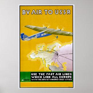 Poster 1935 del viaje de Intourist del vintage
