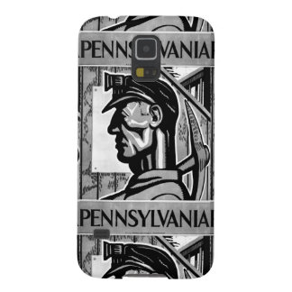 Poster 1938 del carbón de Pennsylvania Funda De Galaxy S5