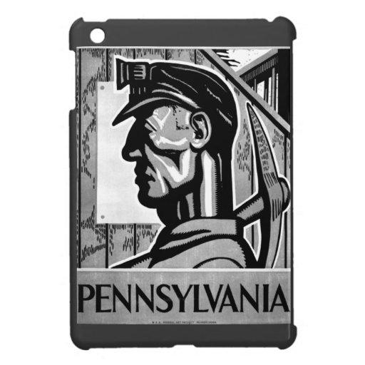 Poster 1938 del carbón de Pennsylvania iPad Mini Carcasa