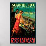 POSTER 1938 DEL VINTAGE DE ATLANTIC CITY