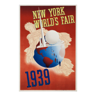 Poster 1939 de la feria de mundo de Nueva York del