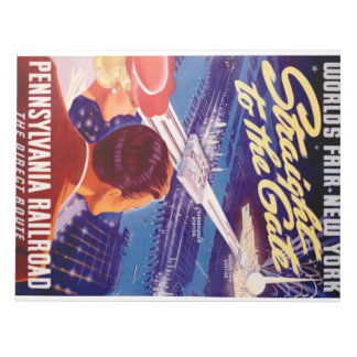 Poster 1939 de Nueva York de la feria de mundos Bloc De Notas