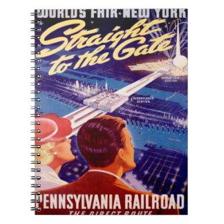 Poster 1939 de Nueva York de la feria de mundos Cuaderno