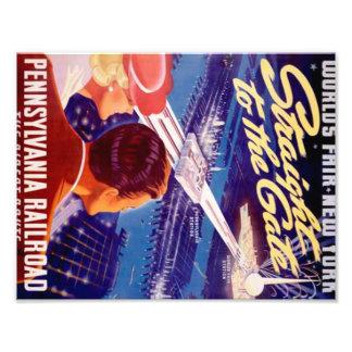Poster 1939 de Nueva York de la feria de mundos Fotografías