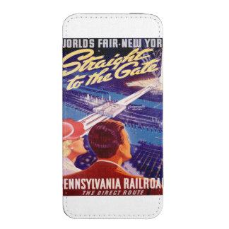 Poster 1939 de Nueva York de la feria de mundos Funda Acolchada Para iPhone