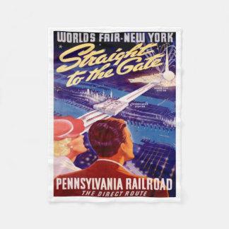 Poster 1939 de Nueva York de la feria de mundos Manta De Forro Polar