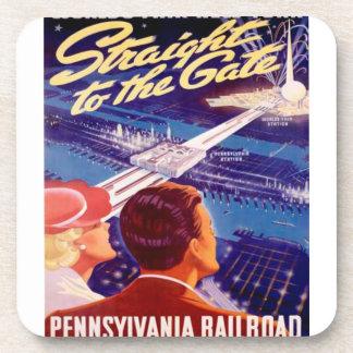 Poster 1939 de Nueva York de la feria de mundos Posavasos De Bebidas
