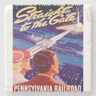 Poster 1939 de Nueva York de la feria de mundos Posavasos De Piedra