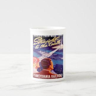 Poster 1939 de Nueva York de la feria de mundos Taza De Porcelana