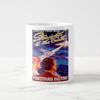 Poster 1939 de Nueva York de la feria de mundos Taza Grande
