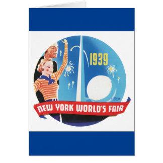 Poster 1939 del viaje del vintage de la feria del tarjeta de felicitación