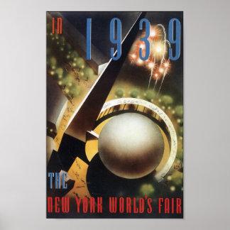 Poster 1939 o impresión de la feria de mundo del v