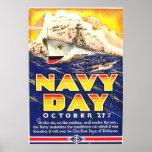 Poster 1941 del día de la marina de guerra del vin