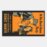 Poster 1945 del buñuelo rectangular pegatinas
