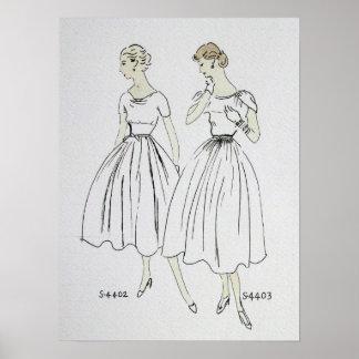 Poster 1953 de Vogue