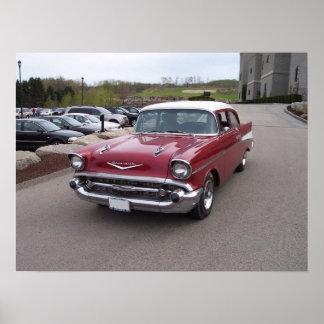 Poster 1957 del Bel Air de Chevrolet