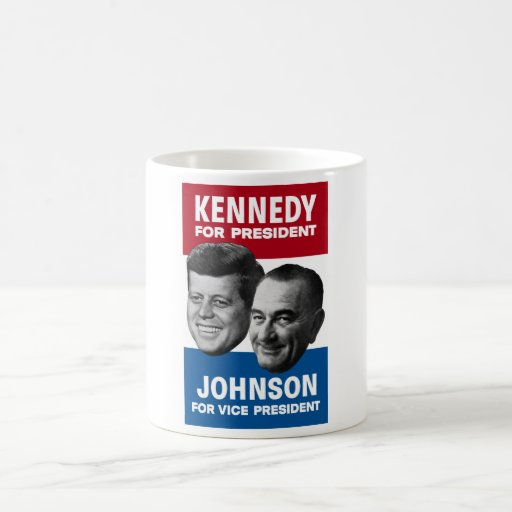 Poster 1960 de la elección de Kennedy y de Johnson Taza