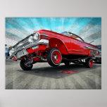 Poster 1960 del Lowrider del impala de Chevy