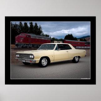 Poster 1964 del coche del músculo de Chevy Chevell