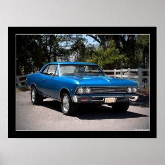 Poster 1966 del coche del músculo de Chevy Chevell
