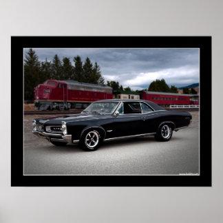 Poster 1966 del coche del músculo de Pontiac GTO