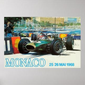 Poster 1968 de Mónaco Grand Prix impresión hasta