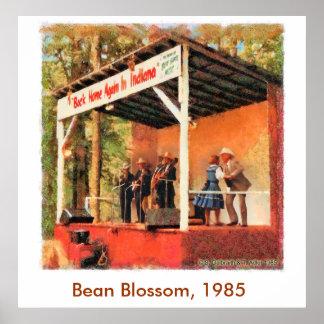 Poster 1985 del baile de Bill Monroe del flor de l