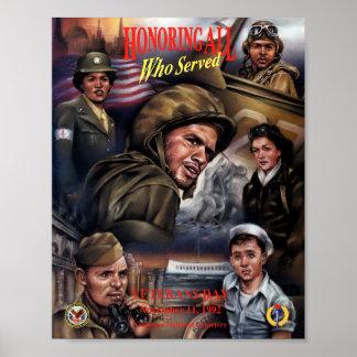 Poster 1992 del día de veteranos