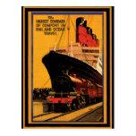 Poster 19 del viaje del vintage postal