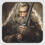 Poster 1 del carácter de Gandalf Calcomanías Cuadradas Personalizadas