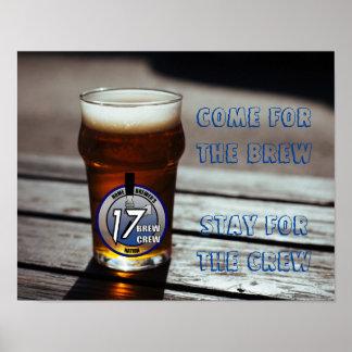Poster #1 del eslogan del equipo del Brew Póster