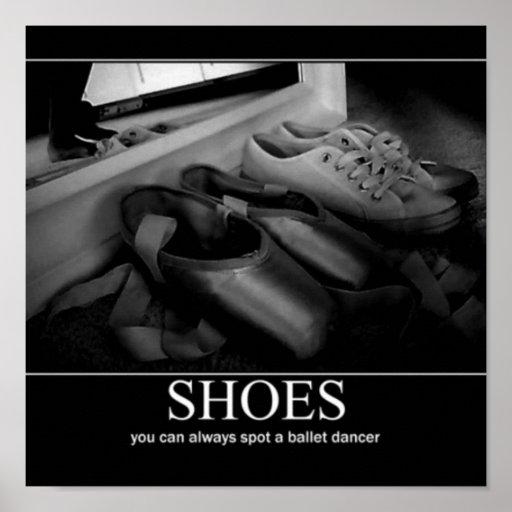 poster 1 del zapato del pointe