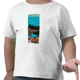 Poster #1Spokane, WA de la publicidad de Spokane Camiseta