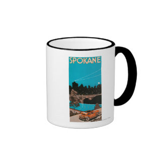 Poster #1Spokane, WA de la publicidad de Spokane Tazas De Café