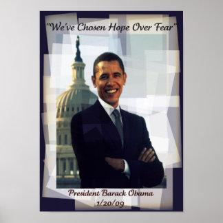 Poster 2009 de Commerative del día de inauguración