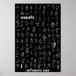 Poster 2009 de los robots de Artomatic 4 - edición