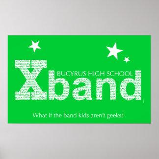 Poster 2010 de la banda X verde lima