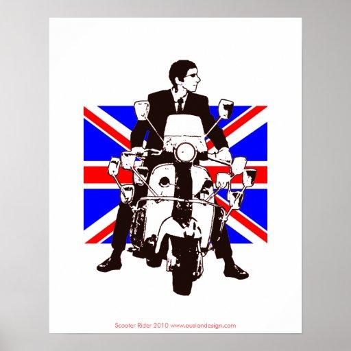 Poster 2010 del fondo de Union Jack del jinete de